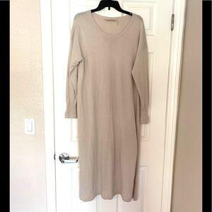 Soft Surroundings Sweater Maxi Dress Cream Ivory L